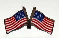 Beautiful Double American Flag Pin - USA Flag Pin from America The Beautiful.com