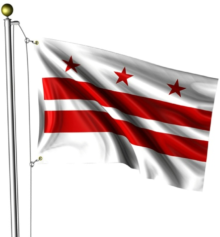 Beautiful District of Columbia State Flags for sale at AmericaTheBeautiful.com