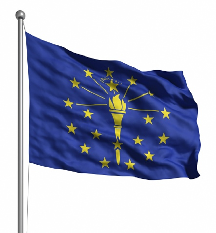 Beautiful Indiana State Flags for sale at AmericaTheBeautiful.com