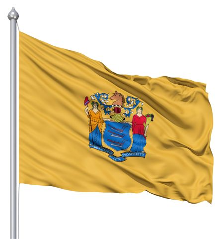 Beautiful New Jersey State Flags for sale at AmericaTheBeautiful.com