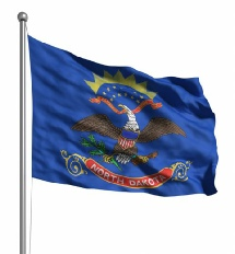 North Dakota United States of America Flag Site
