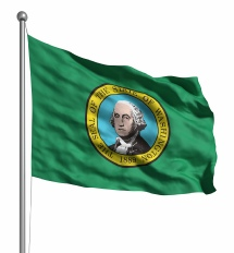 Washington State United States of America Flag Site