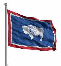 Wyoming United States of America Flag Site