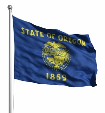 Oregon United States of America Flag Site