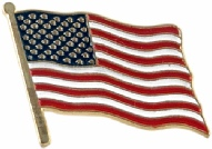 Beautiful American Flag Pin - USA Flag Pin from America The Beautiful.com